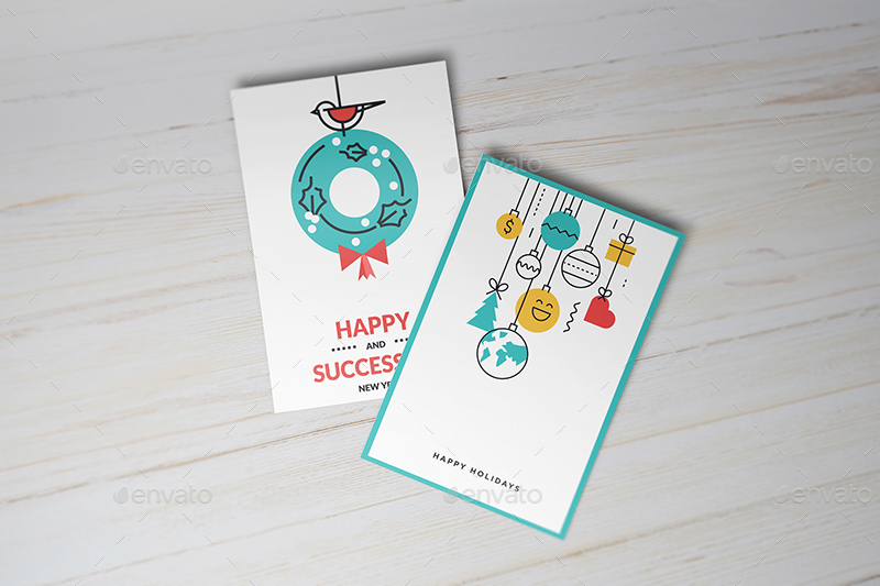 10 Types Of Invitation/ Greeting Card Mock up by Wutip