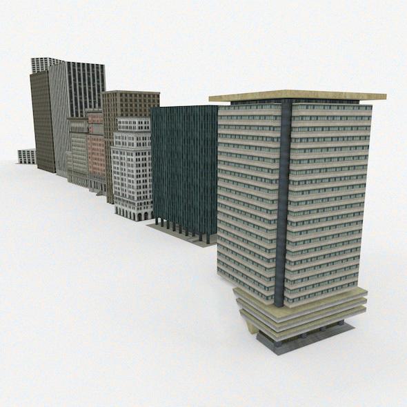 9 skyscrapers - 3DOcean Item for Sale