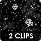 Winter Snow Fall Overlay Slow Motion - 2 Views