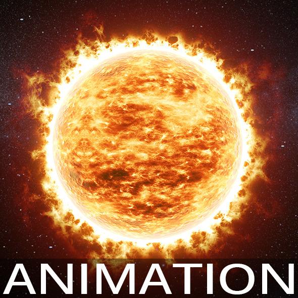 Animated sun v01 - 3DOcean Item for Sale