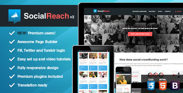 Download Social Reach - The Crowd-Speaking WordPress Theme  nulled download