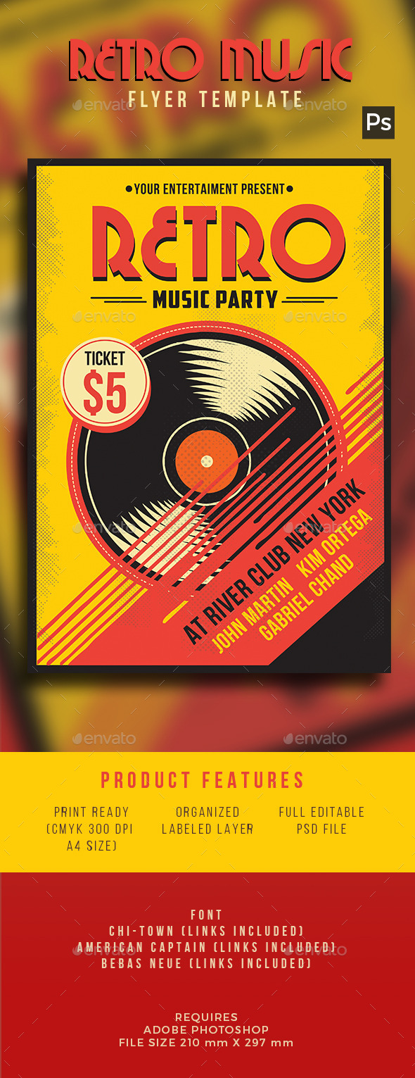 Retro Music Flyer