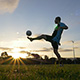 Soccer (Football) Player Juggles Ball At Sunset 2 - VideoHive Item for Sale