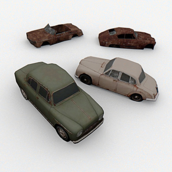 4 Old Cars - 3DOcean Item for Sale
