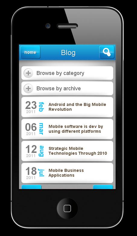 My Mobile Page V2 WordPress Theme - blog page