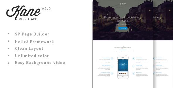 Image of Kane Parallax App Landing Page