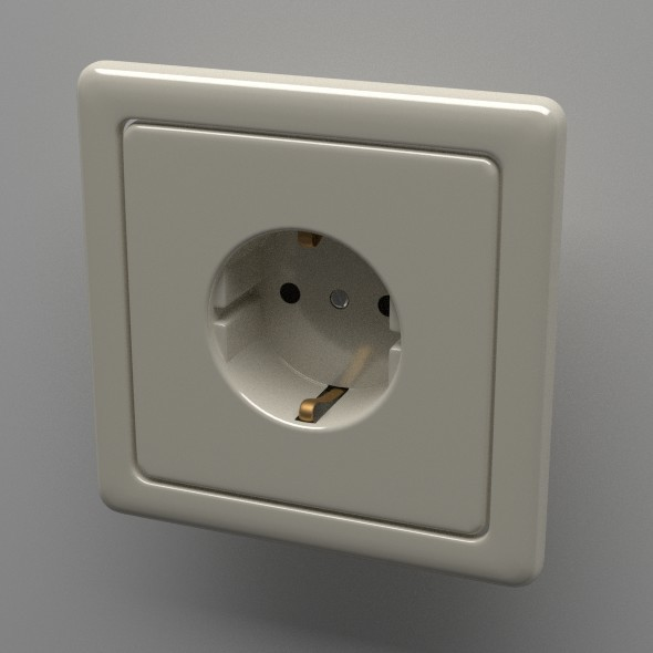 Schuko Socket - 3DOcean Item for Sale