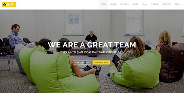 Osum - Onepage HTML Theme