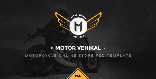 Motor Vehikal – Motorcycle Online Store PSD (Retail) images