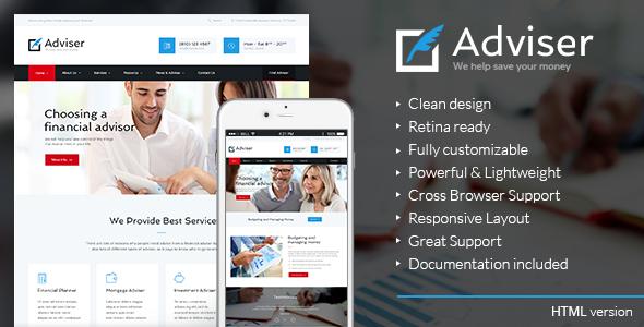 Adviser | Finance & Accounting HTML Theme