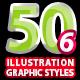 50 Illustrator Graphic Styles Vol.6
