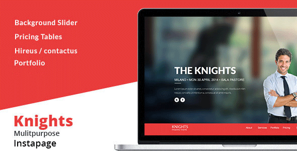 Knights Multipurpose Instapage Template