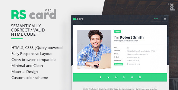 Business card html template images business cards ideas virtual business card just eat ok rscard responsive professional resume template virtual business card friedricerecipe images accmission Image collections