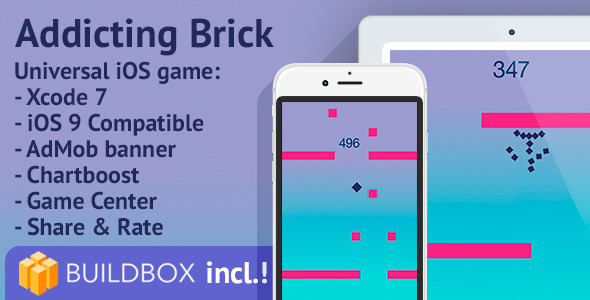 BuildBox Project Included! Addicting Brick iOS