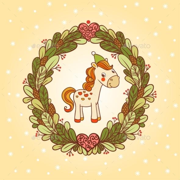 Horse Christmas Card Design
