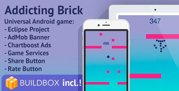 BuildBox Project Included! Addicting Brick Android - CodeCanyon Item for Sale