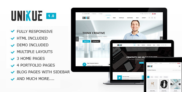 Unikue - Multi-Purpose Drupal Theme