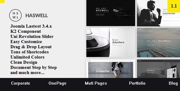 01 preview.  large preview.  large preview - Haswell - Multipurpose One & Multi Page Joomla Template