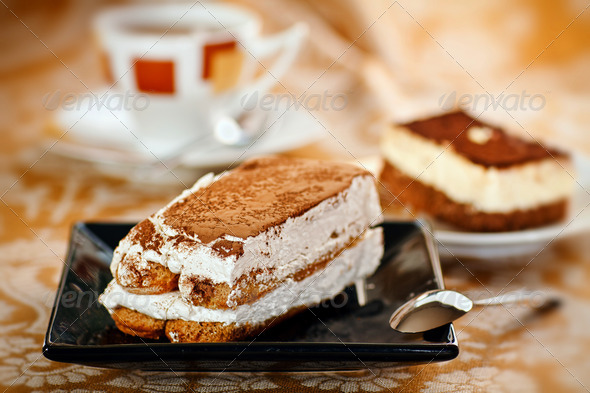 Delicious tiramisu - Stock Photo - Images