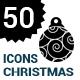 50 christmas ball Icons