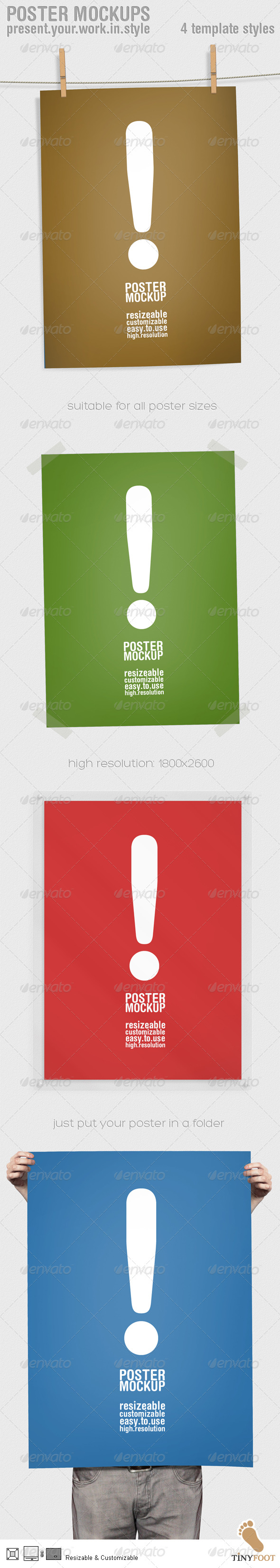 GraphicRiver Poster Mockups 165252