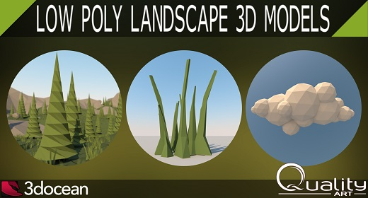Low Poly Landscape 3D Models