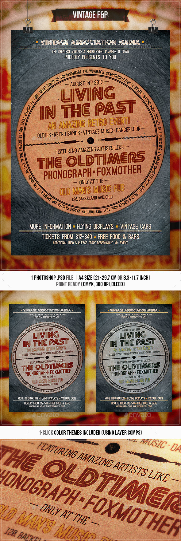 Living in the Past - Retro Flyer & Poster