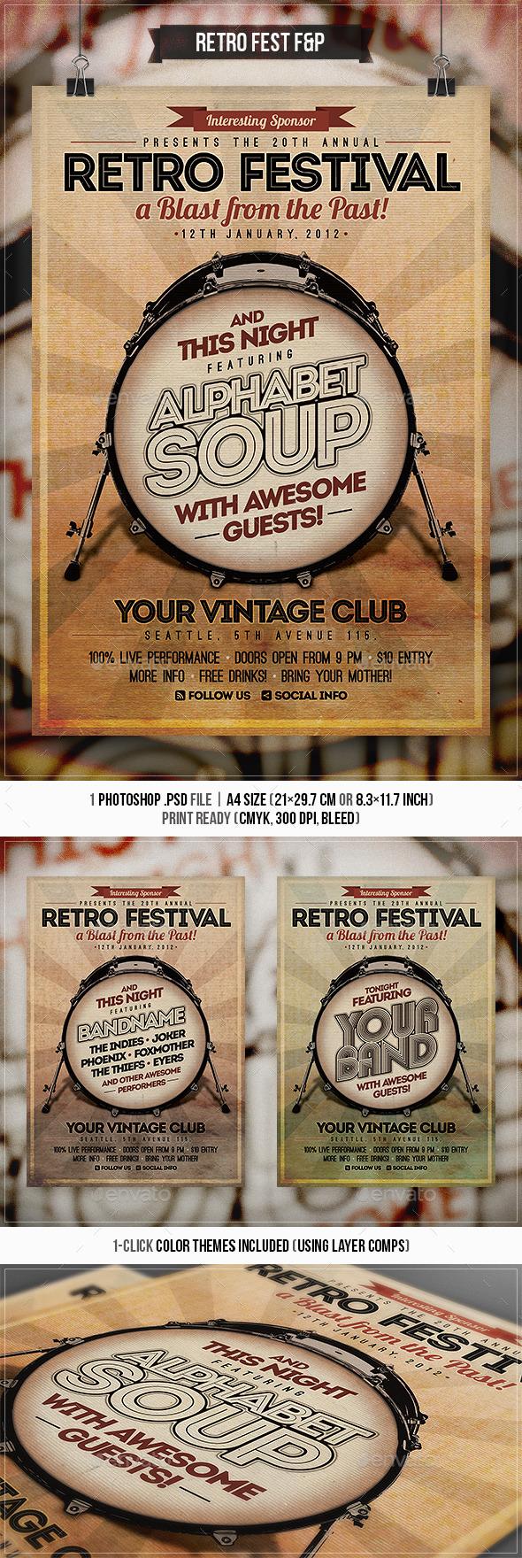 Retro Festival Flyer & Poster