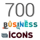 700 Flat Business Icons