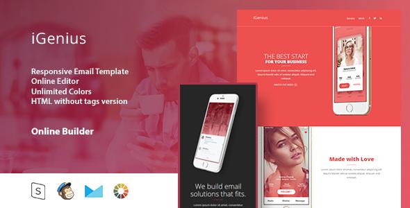 iGenius - Responsive Email Template+Online Editor