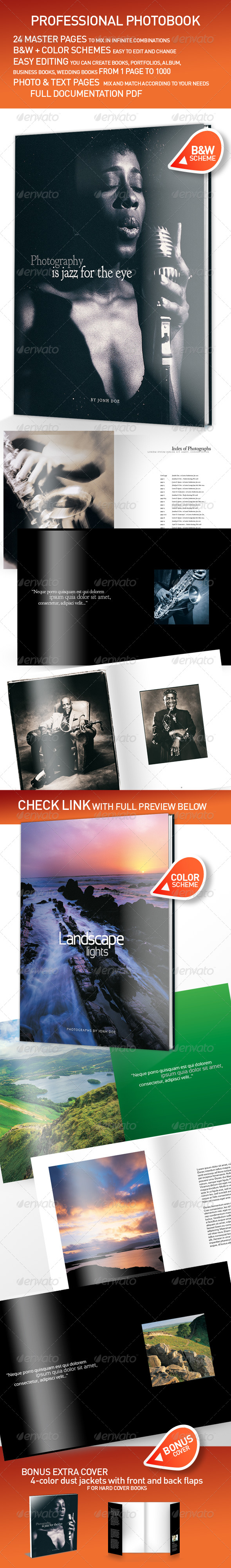 Professional Photobook Template InDesign - Photo Albums Print Templates