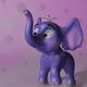 Cartoon baby elephant RIGGED
