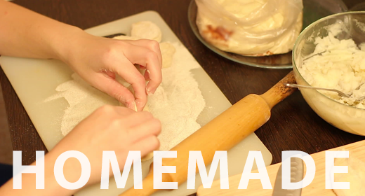 Cooking homemade pastries