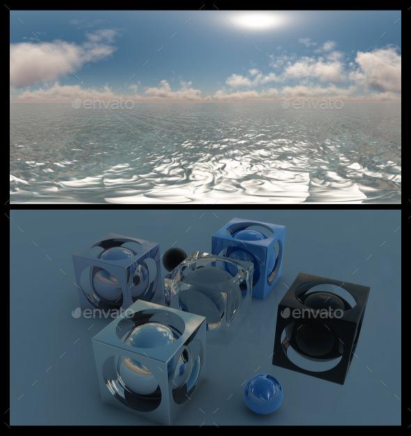 Ocean Blue Clouds 8 - HDRI - 3DOcean Item for Sale