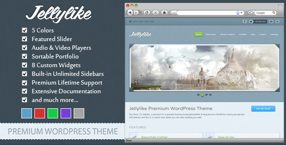 Jellylike - Premium WordPress Theme