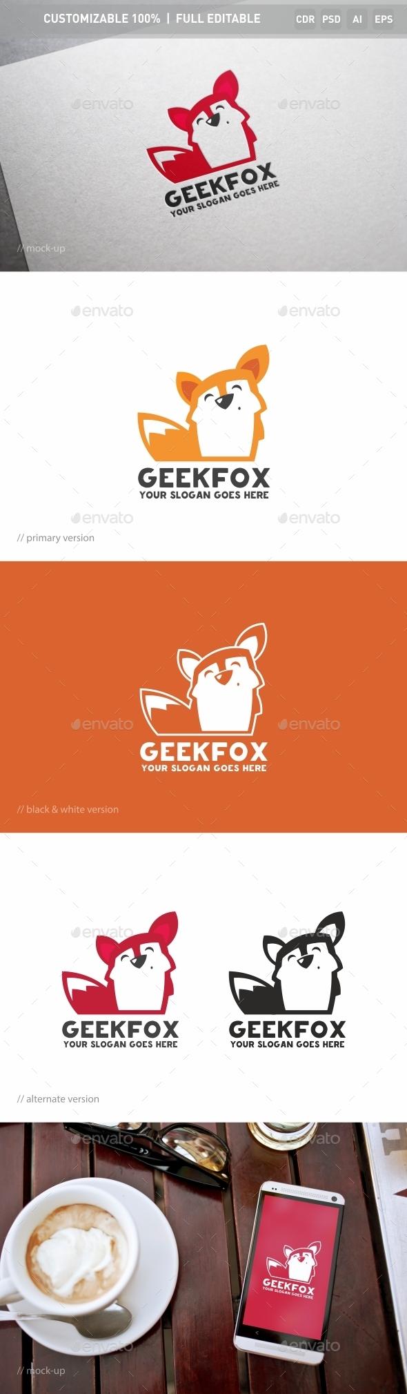 Geek Fox Logo Template