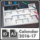 Wall Calendar 2016 and 2017 c1 - A3 Landscape