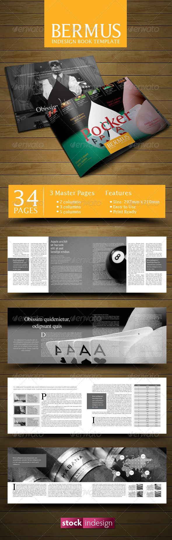 Indesign book template bermus graphicriver for Indesign templates for books