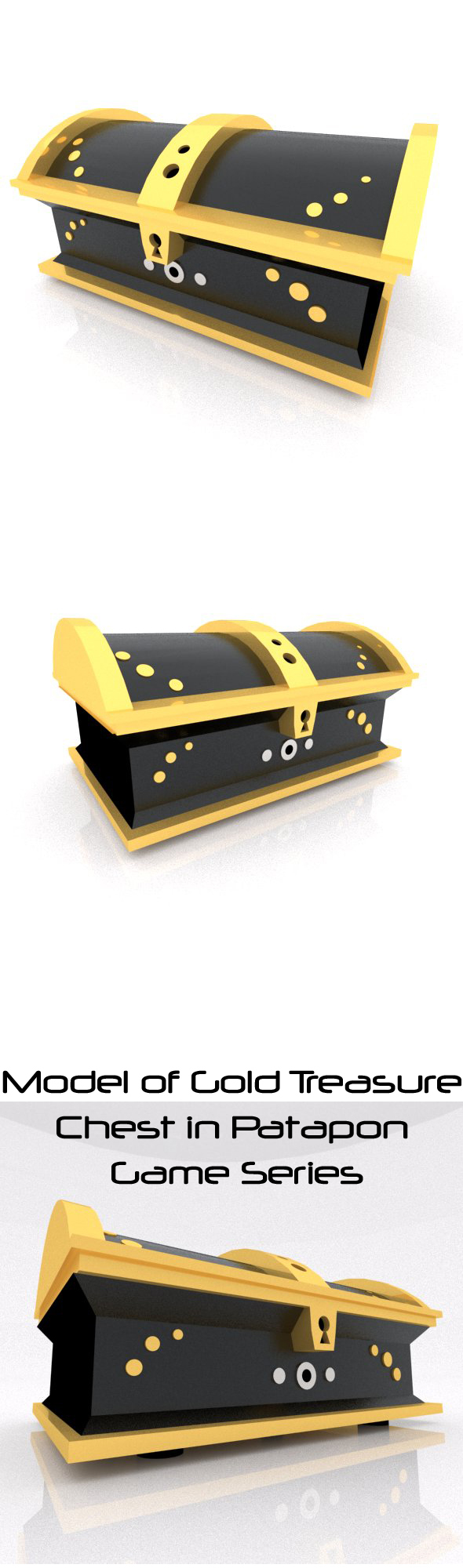 Gold Treasure Chest - 3DOcean Item for Sale