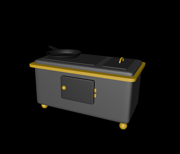 Oven 3D mdoel - 3DOcean Item for Sale