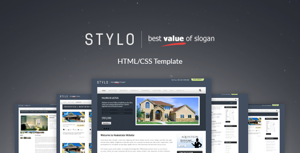 Stylo - Premium Real Estate Template 5 Skins