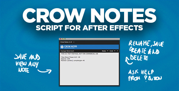 Crow Notes | After Effects Script