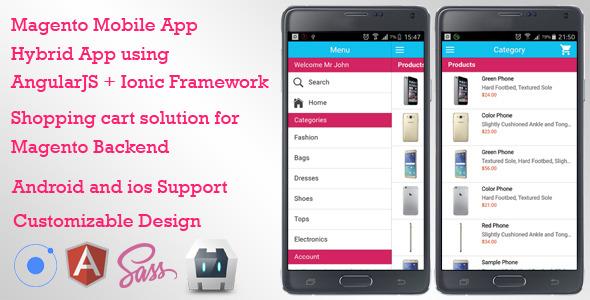 Magento Mobile App Ecommerce Shopping Cart App