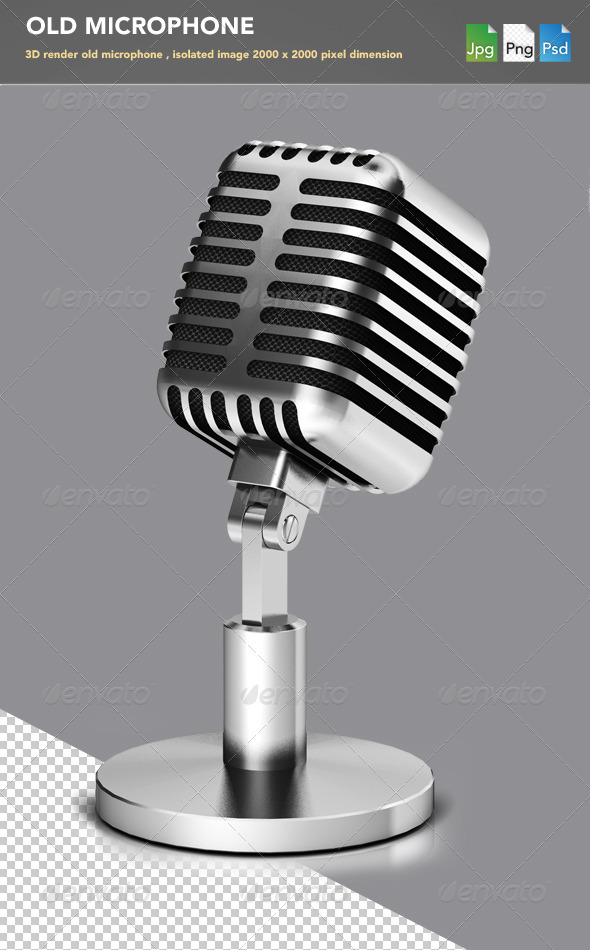 Old Microphone - Objects 3D Renders
