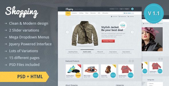 ThemeForest Shopping eCommerce HTML Template 1343474