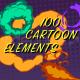 100 Cartoon Elements