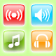 Sound Media Icons Set - V4 - ActiveDen Item for Sale