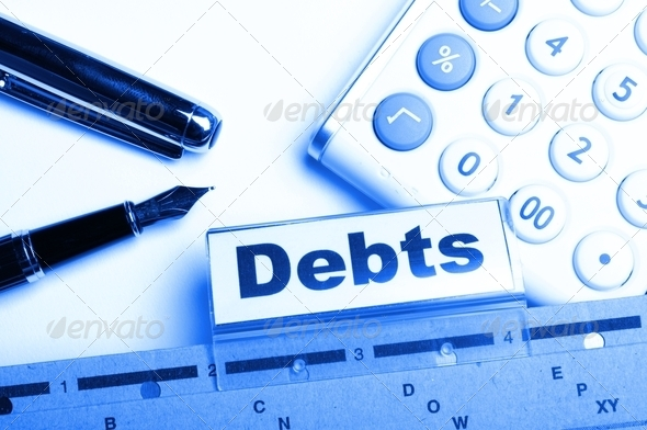 debt - Stock Photo - Images