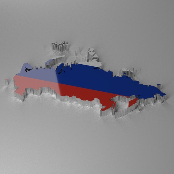 Map of Russia - 3DOcean Item for Sale