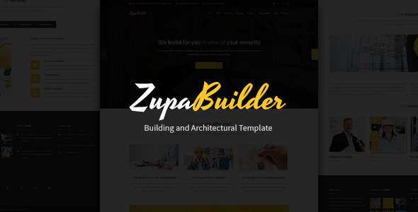 ZupaBuilder – Building and Architectural PSD Template (Business) images